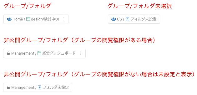 Kibelaグループ・フォルダ仕様変更